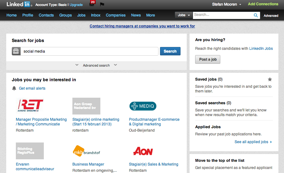 LinkedIn verbetert zoeken naar vacatures via 'Jobs-pagina ...