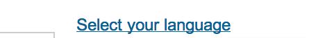 LinkedIn - Select Language