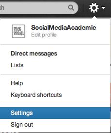 Settings van je Twitter-profiel