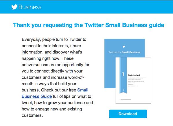 Twitter advertentie gericht op leadgeneratie op basis van Twitter Cards
