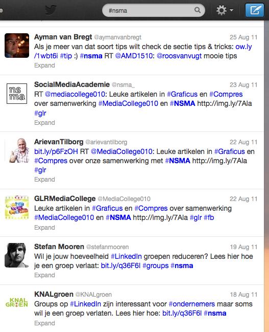 Twitter laat recente en oude tweets in haar zoekresultaten zien