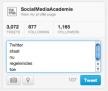 Regeleindes in tweets toegestaan door Twitter