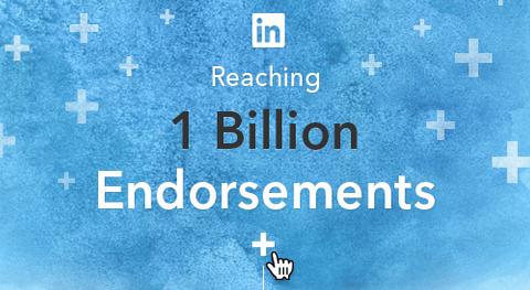 Miljard LinkedIn Endorsements - 2013