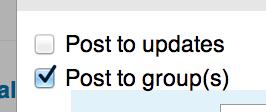 kies groepen - LinkedIn bedrijfspagina - statusupdate
