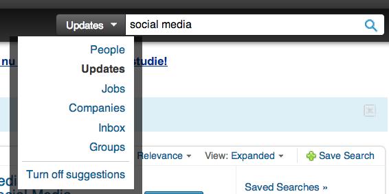 LinkedIn zoeken - oude situatie