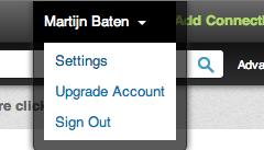 Instellingen op LinkedIn
