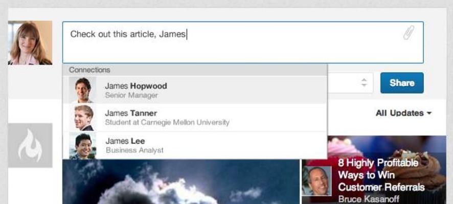 LinkedIn introduceert taggen van mensen in gesprekken