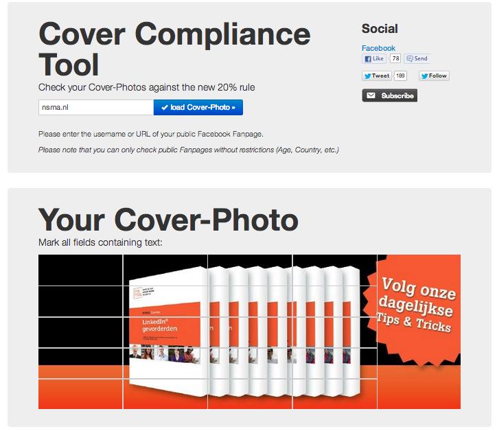 Toets je Facebook omslagfoto met de Cover Compliance Tool
