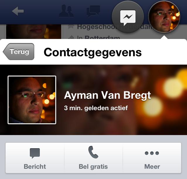 Gratis bellen met Facebook