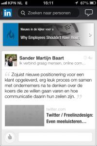 Mobiele applicatie LinkedIn
