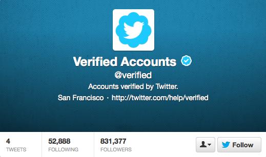 Uitleg over geverifieerde Twitter accounts