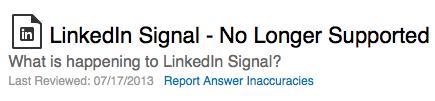 LinkedIn Signal functionaliteit niet meer aangeboden binnen LinkedIn
