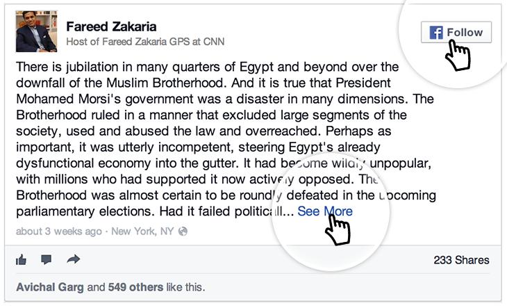 Embedded Facebook update
