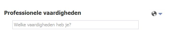 Professionele vaardigheden op Facebook
