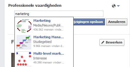 Professionele vaardigheden toevoegen op Facebook