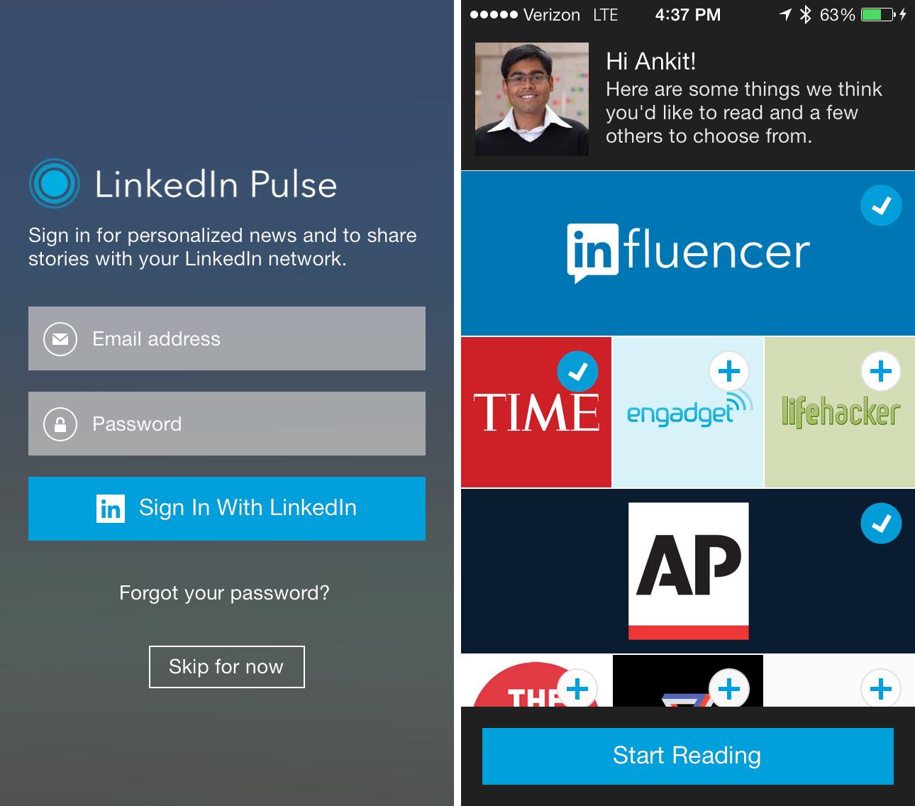 Betere nieuwservaring door vervanging van LinkedIn Today voor LinkedIn Pulse