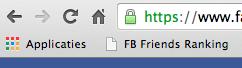 FB Friends Ranking script toevoegen aan bladwijzerbalk