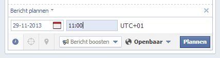 Het inplannen van een statusupdate op een Facebook bedrijfspagina