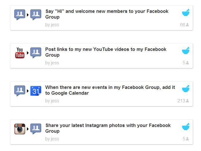 IFTTT met Facebook groepen