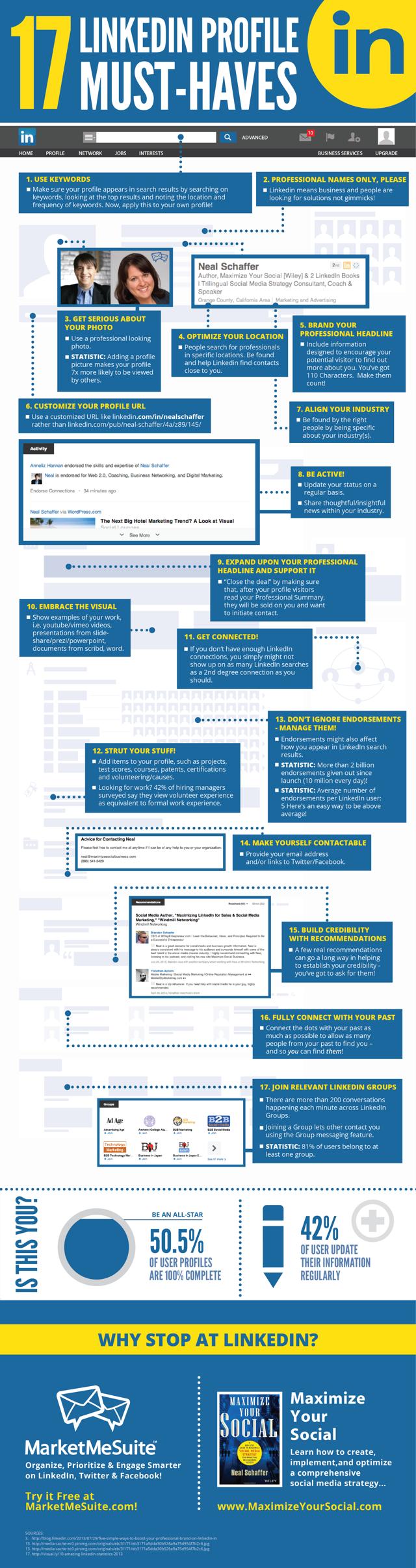 10 musthaves op een LinkedIn profiel