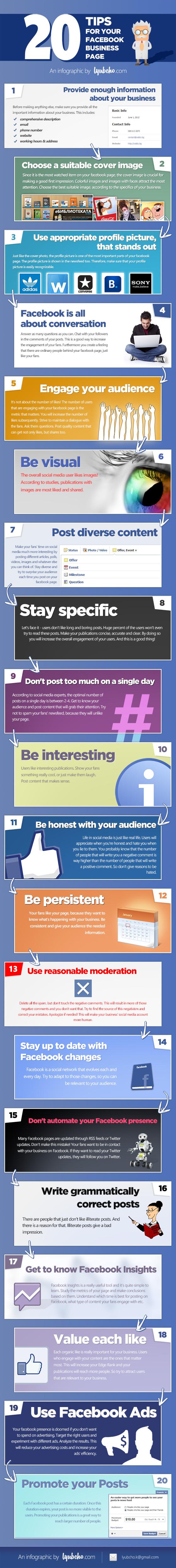 20 tips voor Facebook bedrijfspagina's