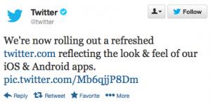 Twitter introduceert nieuw design voor mobiele Android en iPhone apps