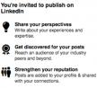 Blogfunctie voor LinkedIn leden geopend om te kunnen publiceren