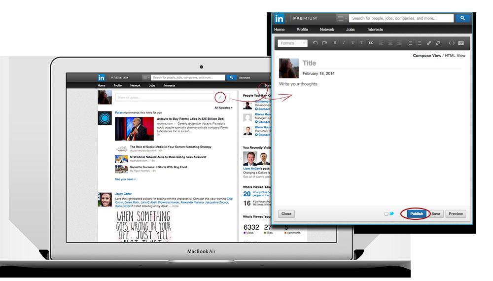 LinkedIn Blogfunctie voor LinkedIn leden geopend om te kunnen publiceren