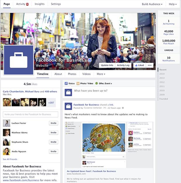 Nieuw uiterlijk Facebook bedrijfspagina's