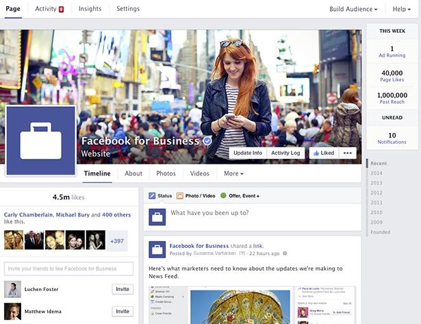 Nieuwe Facebook bedrijfspagina's