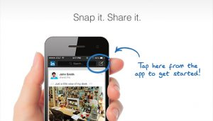 Foto's uploaden via de mobiele LinkedIn app