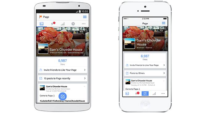Facebook 'Paginabeheer-app'
