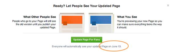 Facebook bedrijfspagina bijwerken