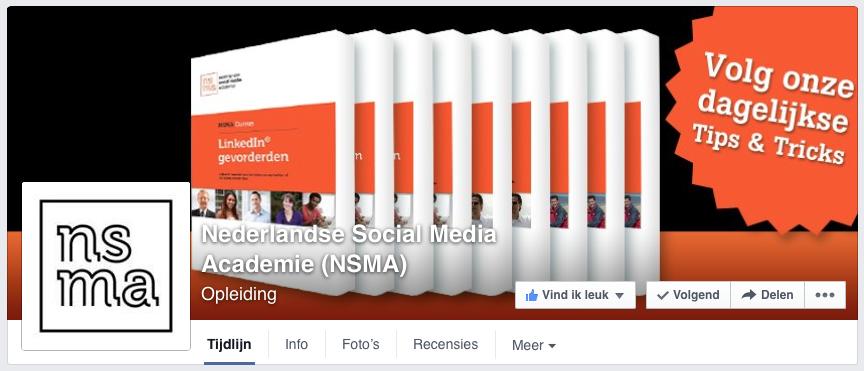 Omslagfoto op nieuwe Facebook bedrijfspagina