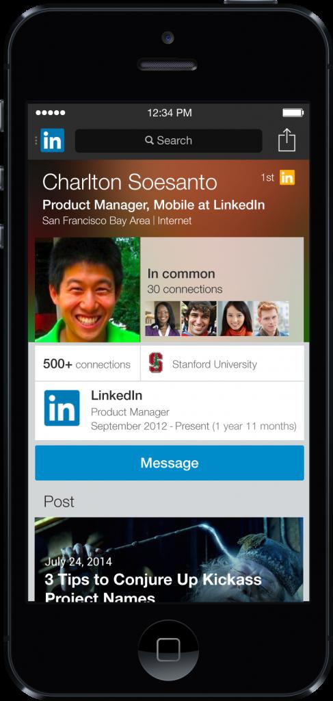 Een persoonlijke uitnodiging sturen via de mobiele LinkedIn app