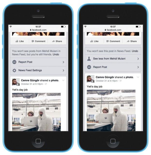 Facebook nieuwsoverzicht instellingen