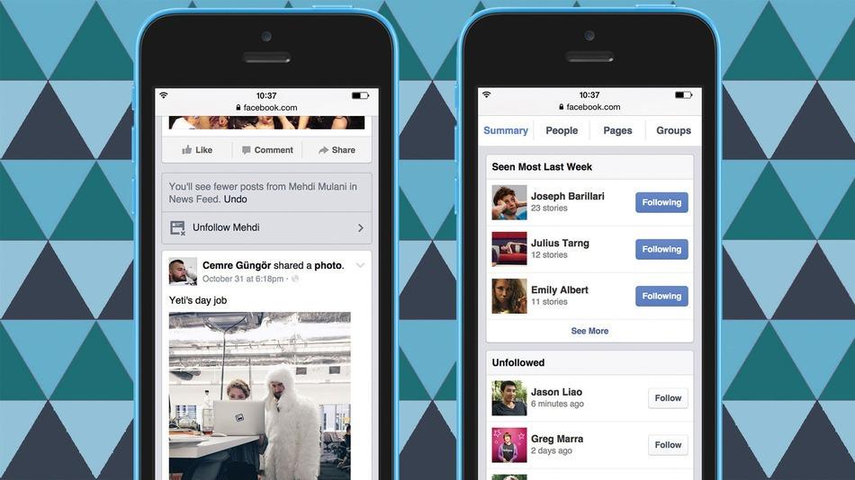 Gebruikers krijgen meer controle over eigen Facebook nieuwsoverzicht