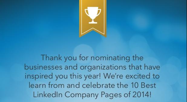 De 10 beste LinkedIn bedrijfspagina's van 2014