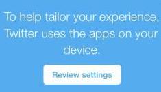 Twitter verzamelt data over apps op smartphone