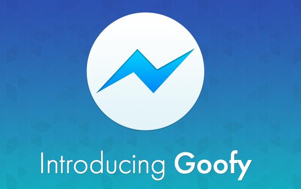 Facebook Messenger met Goofy