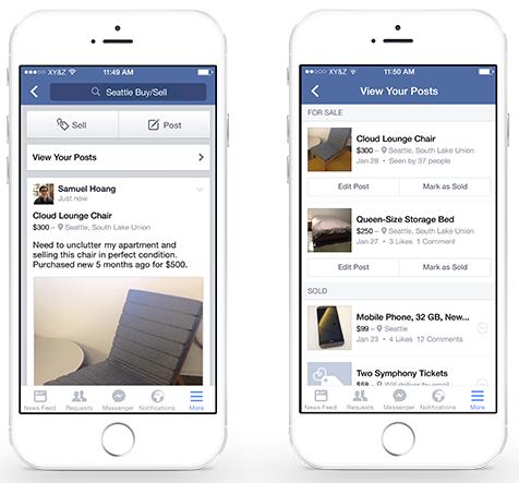 Spullen verhandelen in Facebook groepen