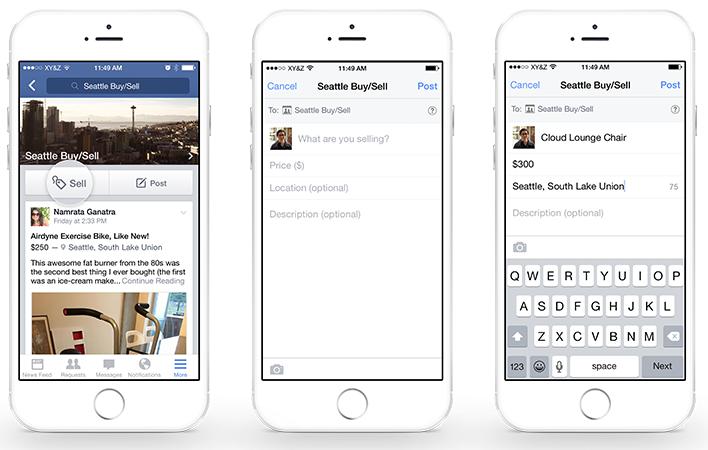 Verhandelen van spullen in Facebook groepen gemakkelijker