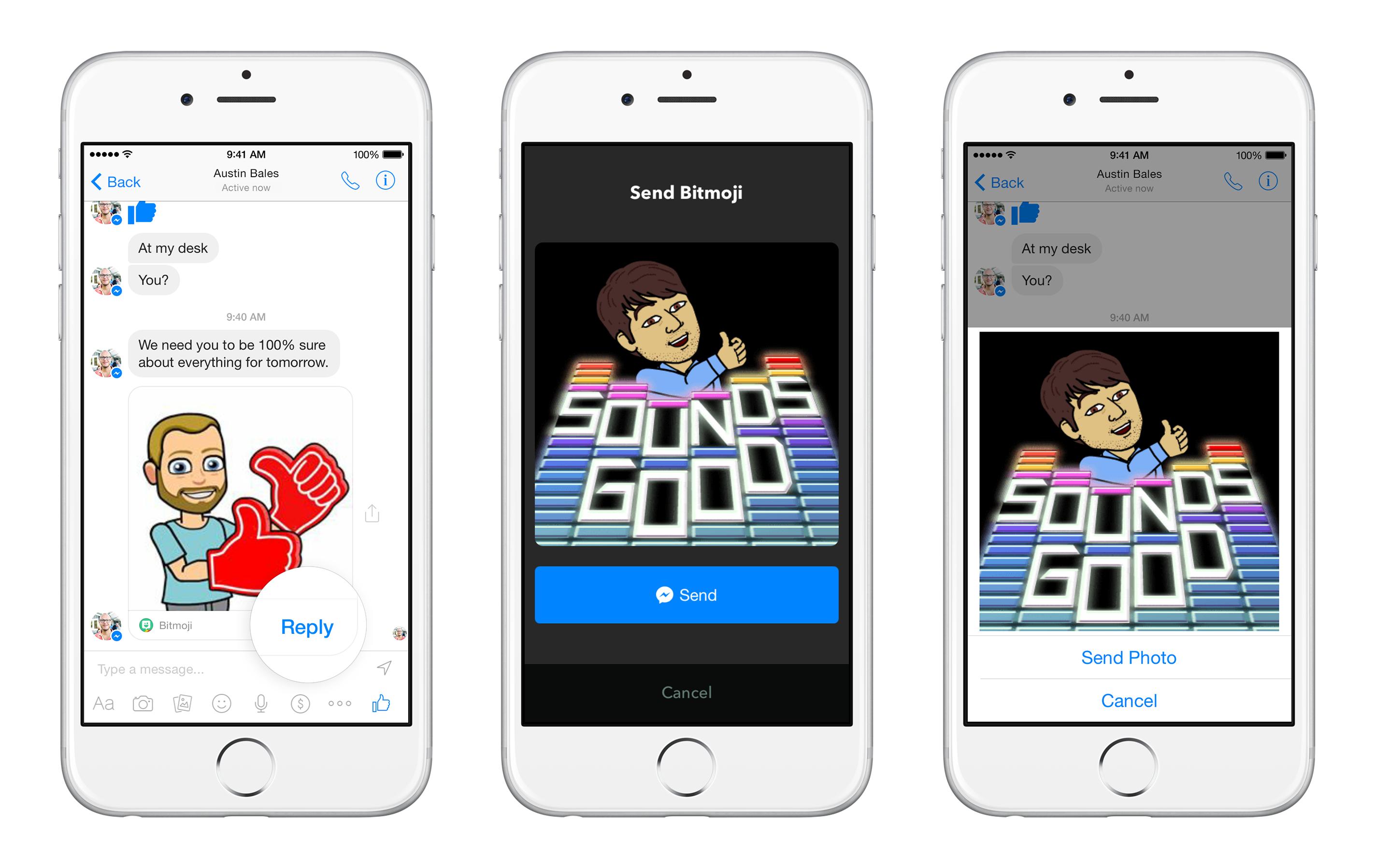 Facebook Messenger App reageren