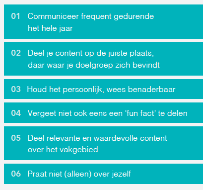 Tips om content te delen via social media