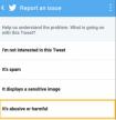 Update Twitter beveiliging blokkeer- en rapporteer-functies