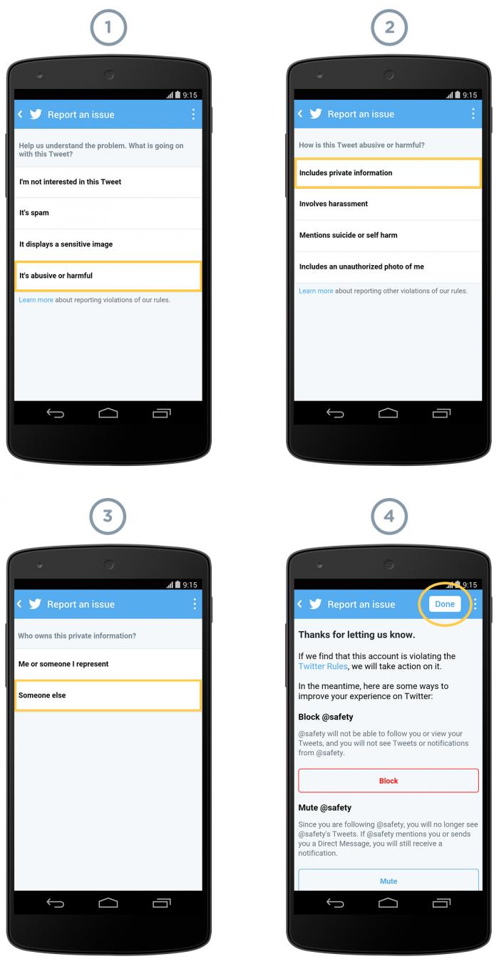 Update Twitter beveiliging blokkeer- en rapporteer-functies  mobiel