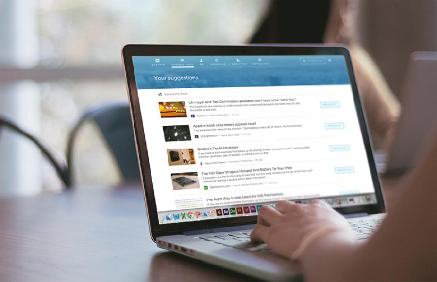 Content suggesties via LinkedIn Elevate