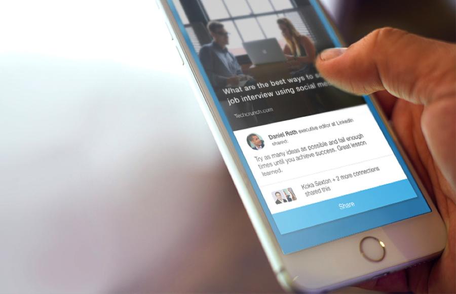 LinkedIn Elevate op mobiel