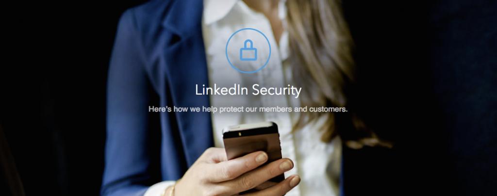 Veiligheid op LinkedIn specifiek onderdeel op de LinkedIn website