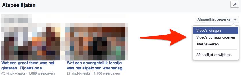 Facebook Afspeellijst bewerken